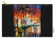 Las Vegas - Palette Knife Oil Painting On Canvas By Leonid Afremov Carry-all Pouch