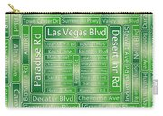 Las Vegas Street Road Signs  Carry-all Pouch