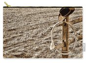 Lasso And Hat On Fence Post Carry-all Pouch