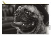 Last Call Pug Greeting Card Carry-all Pouch