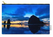 Last Light - Cannon Beach Sunset With Reflection In Oregon The Coast Carry-all Pouch