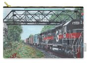 Last Train Under The Bridge Carry-all Pouch by Cliff Wilson