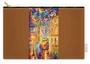 Last Trolley - Palette Knife Oil Painting On Canvas By Leonid Afremov Carry-all Pouch