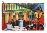Late At Cafe Du Monde Carry-all Pouch by Diane Millsap
