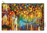 Late Stroll Miami Carry-all Pouch by Leonid Afremov