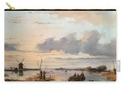 Late Winter In Holland Carry-all Pouch by Nicholas Jan Roosenboom