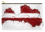 Latvia Painted Flag Map Carry-all Pouch