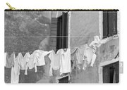 Laundry I Black And White Venice Italy Carry-all Pouch