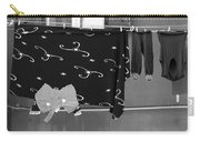 Laundry Vii Black And White Venice Italy Carry-all Pouch