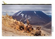 Lava Sculptures And Volcanoe Mount Ngauruhoe Nz Carry-all Pouch