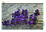 Lavender On White Stone Carry-all Pouch