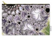 Lavender And Green Fractal Abstract  Carry-all Pouch