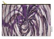 Lavender Bead Art Carry-all Pouch