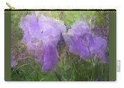 Lavender Blue Iris Garden Carry-all Pouch