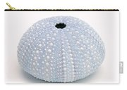 Blue Sea Urchin White Carry-all Pouch