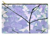Lavender Blues Leaves Melody Carry-all Pouch