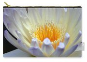 Lavender Edged Lotus Carry-all Pouch