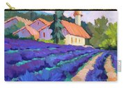 Lavender Field In St. Columne Carry-all Pouch