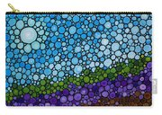 Lavender Fields - France French Landscape Art Carry-all Pouch by Sharon Cummings