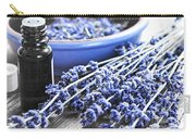 Lavender Herb And Essential Oil Carry-all Pouch by Elena Elisseeva