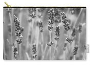 Lavender In Black And White Carry-all Pouch