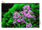 Lavender Pansies Carry-all Pouch