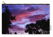 Lavender Pink And Blue Sunrise Carry-all Pouch