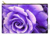 Lavender Rose With Brushstrokes Carry-all Pouch