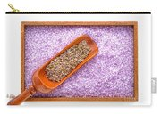 Lavender Seeds And Bath Salts Carry-all Pouch by Olivier Le Queinec