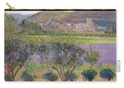 Lavender Seen Through Quince Trees Carry-all Pouch by Timothy  Easton