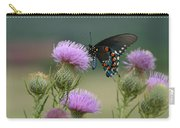 Lavender Thistle And Pipevine Swallowtail Butterfly Carry-all Pouch