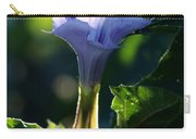 Lavender Trumpet Flower Carry-all Pouch