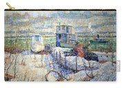 Lawson's Boathouse -- Winter -- Harlem River Carry-all Pouch