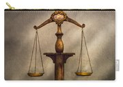 Lawyer - Scale - Fair And Just Carry-all Pouch by Mike Savad