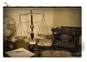 Lawyer - The Lawyer's Desk In Black And White Carry-all Pouch