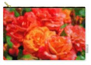 Layer Art Flowers Roses Carry-all Pouch