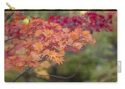 Layers Of Autumn Red Carry-all Pouch