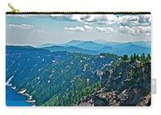 Layers Of Mountains From Watchman Overlook In Crater Lake National Park-oregon  Carry-all Pouch