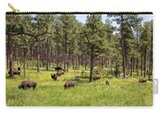 Lazily Grazing Bison Carry-all Pouch