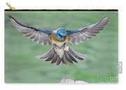 Lazuli Bunting In Flight Carry-all Pouch