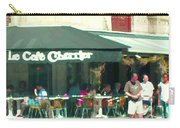 Le Cafe Cherrier Bistro Bar Au Coin Rue St Denis Montreal Terrace Restaurant Scene Carole Spandau Carry-all Pouch