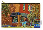 Le Fouvrac Foods Chocolates And Coffee Shop Corner Garnier And Laurier Montreal Street Scene Carry-all Pouch