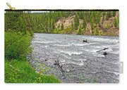 Le Hardy Rapids Of Yellowstone River In Yellowstone River In Yellowstone National Park-wyoming   Carry-all Pouch