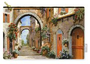 Le Porte Rosse Sulla Strada Carry-all Pouch by Guido Borelli