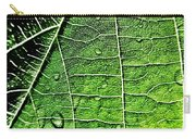 Leaf Abstract - Macro Photography Carry-all Pouch