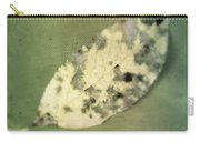 Leaf On Green Fabric Carry-all Pouch