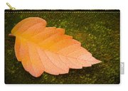 Leaf On Moss Carry-all Pouch by Adam Romanowicz