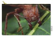 Leafcutter Ant Cutting Papaya Leaf Carry-all Pouch