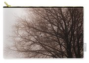 Leafless Tree In Fog Carry-all Pouch by Elena Elisseeva