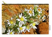 Leafy-bract Asters In Wildcat Canyon Trail Along Kolob Terrace Road In Zion National Park-utah Carry-all Pouch